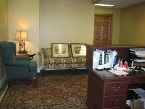 Law office reception, Organizing Associates, Inc.