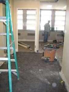 Entrance room demolition, Organizing Associates, Inc.